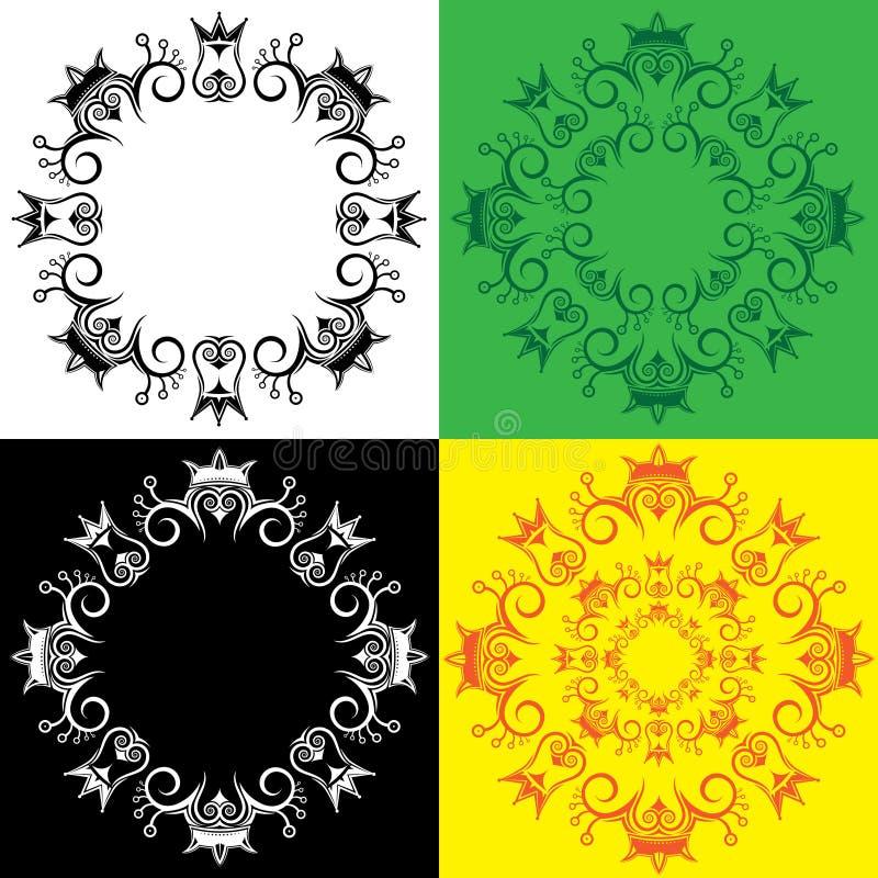 Teste padrão ornamentado simbólico real decorativo geométrico fotografia de stock