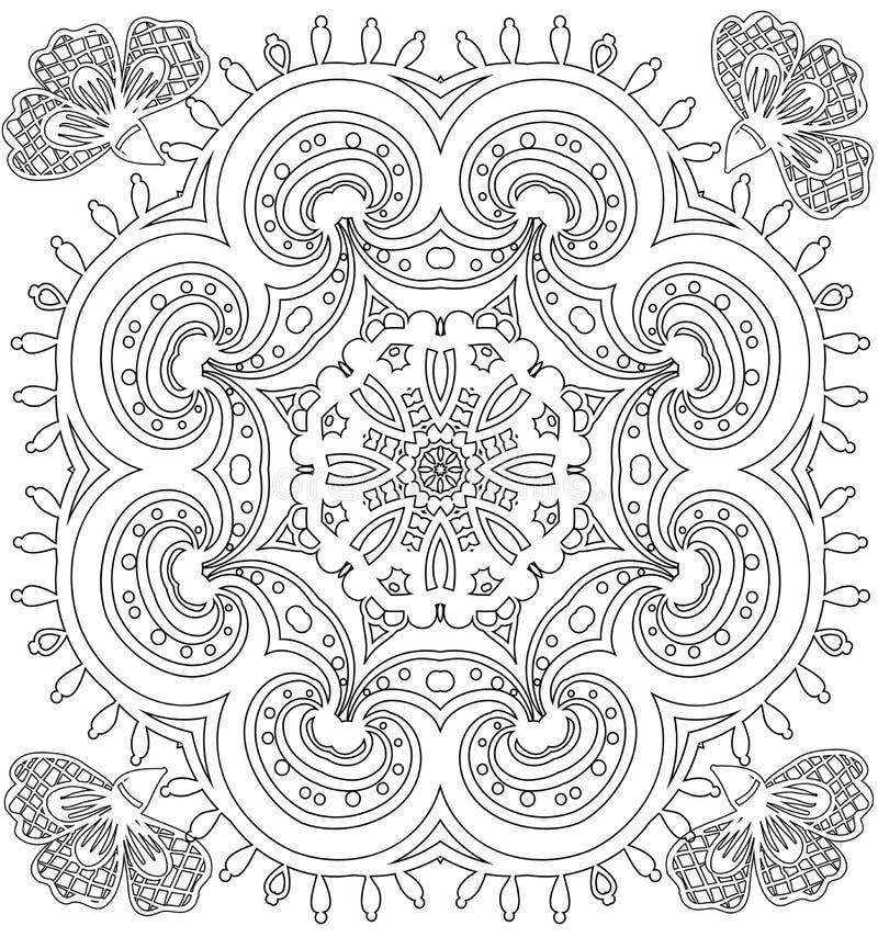 Teste padrão para o livro para colorir ilustração royalty free