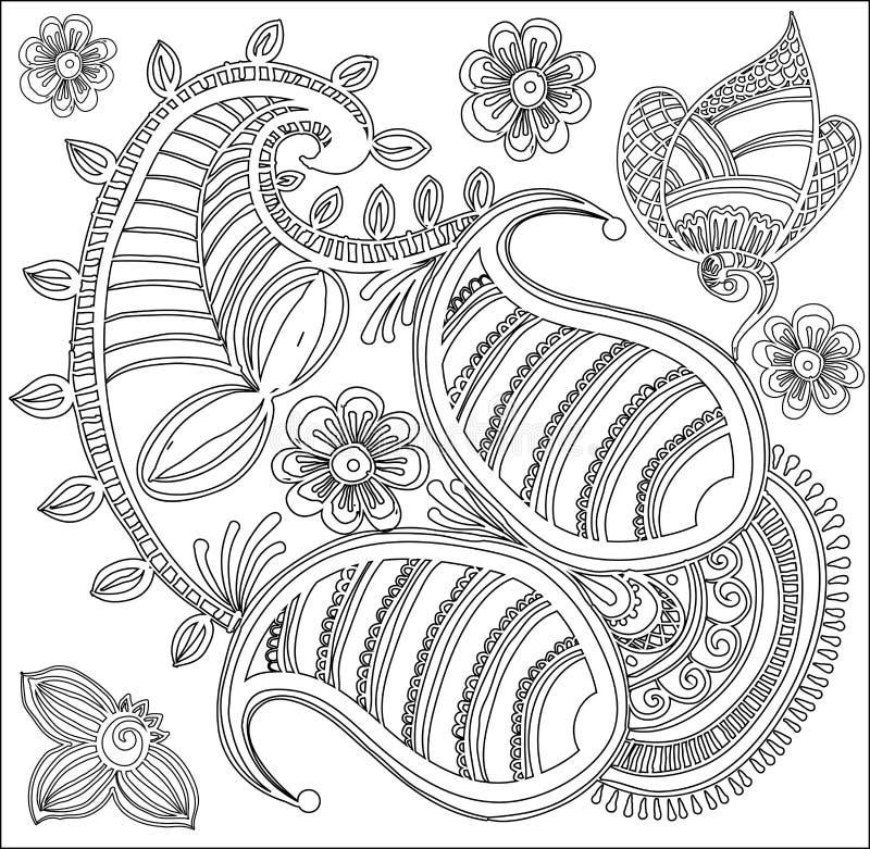 Teste padrão para o livro para colorir ilustração do vetor