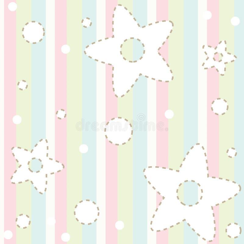 Teste padrão Pastel do bebê ilustração royalty free