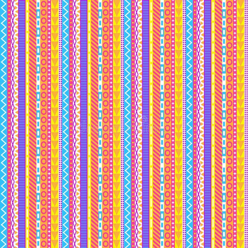 Teste padrão Pastel intrincado das listras ilustração stock