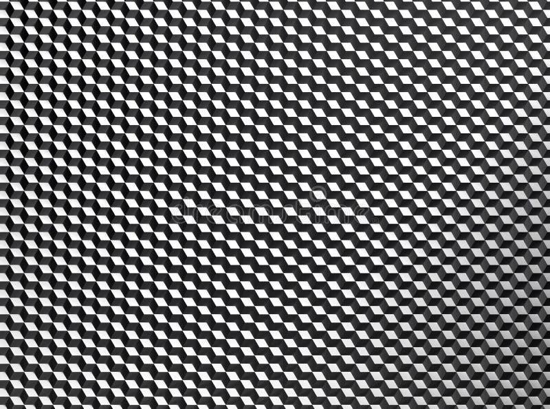 Teste padrão pequeno abstrato do fundo dos cubos ilustração stock