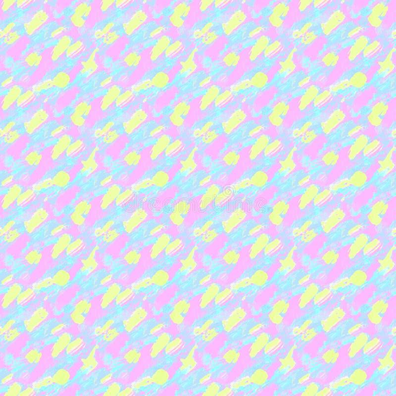 Teste padrão pequeno com mão curto cursos tirados Textura sem emenda no estilo do impressionismo ilustração do vetor