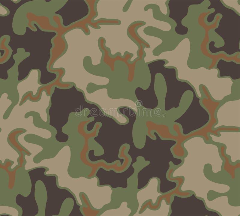 Teste padrão pequeno da camuflagem da floresta ilustração stock