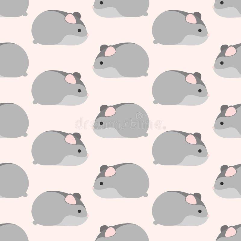 Teste padrão pequeno do hamster ilustração do vetor