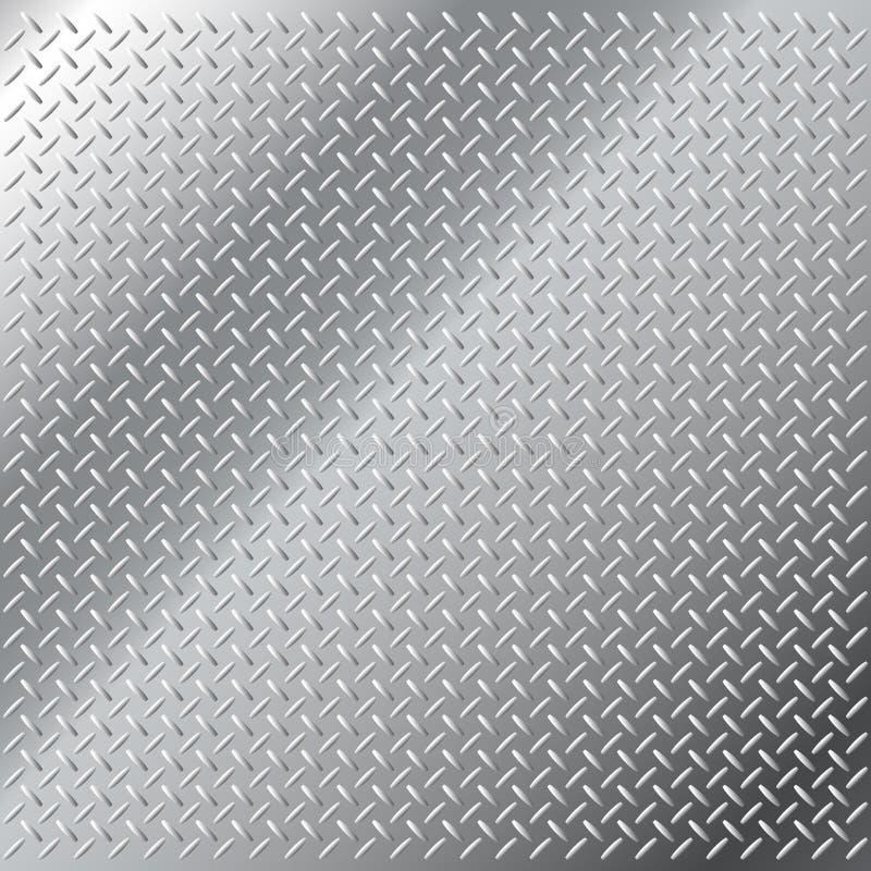 Teste padrão pequeno do passo do diamante do aço inoxidável ilustração stock