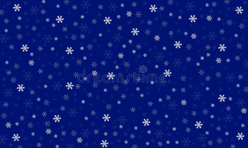 Teste padrão pequeno 2 dos flocos de neve ilustração do vetor