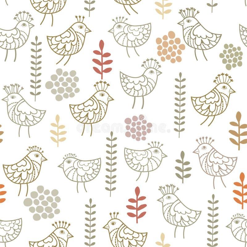 Teste padrão pequeno dos pássaros ilustração royalty free