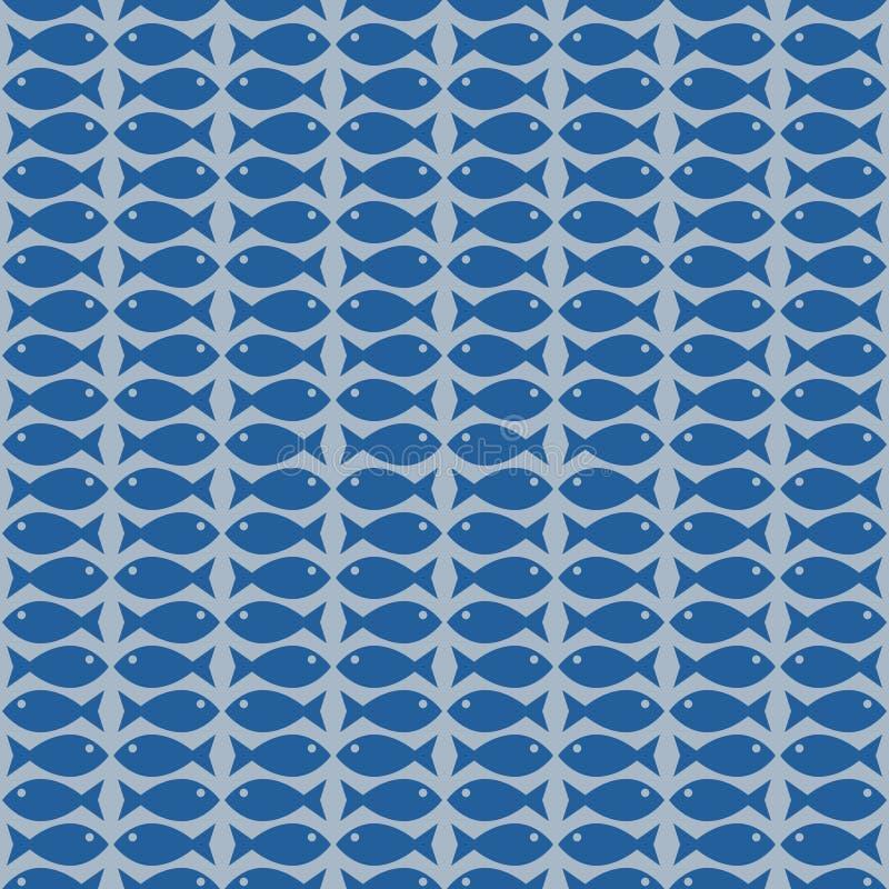 Teste padrão pequeno dos peixes ilustração do vetor