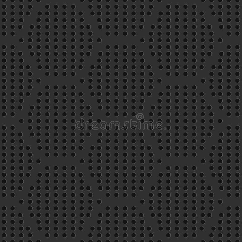 Teste padrão perfurado da grelha do ferro sem emenda ilustração do vetor