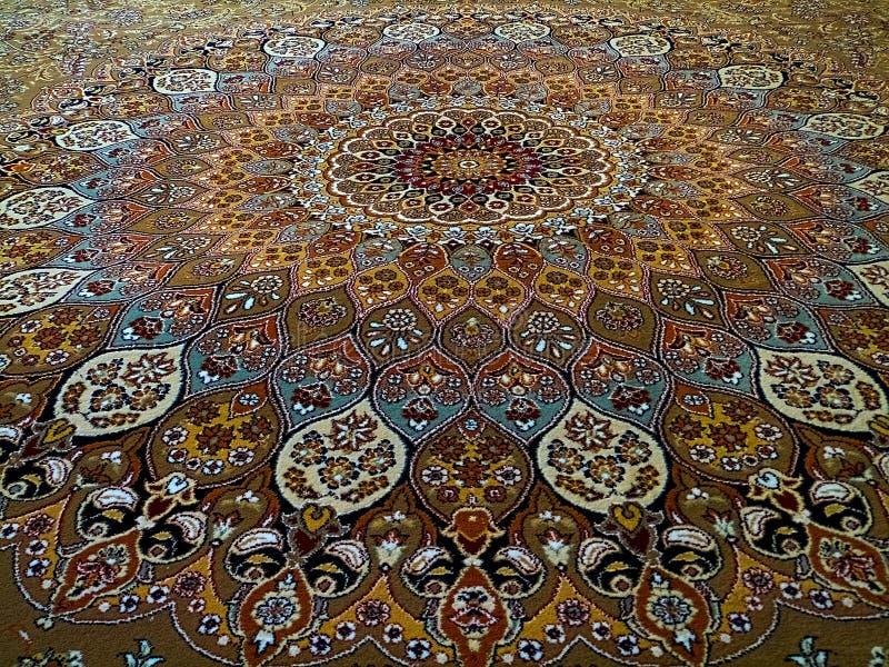 Teste padrão persa do tapete de Royal Palace, tapete persa com um projeto intrincado imagem de stock