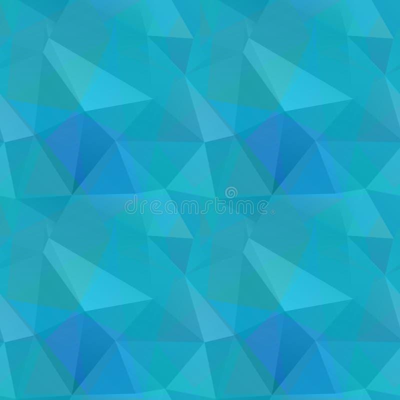 Teste padrão poligonal sem emenda, fundo ilustração stock