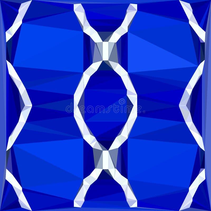 Teste padrão poligonal vertical com o ornamento étnico geométrico do porto azul ilustração do vetor