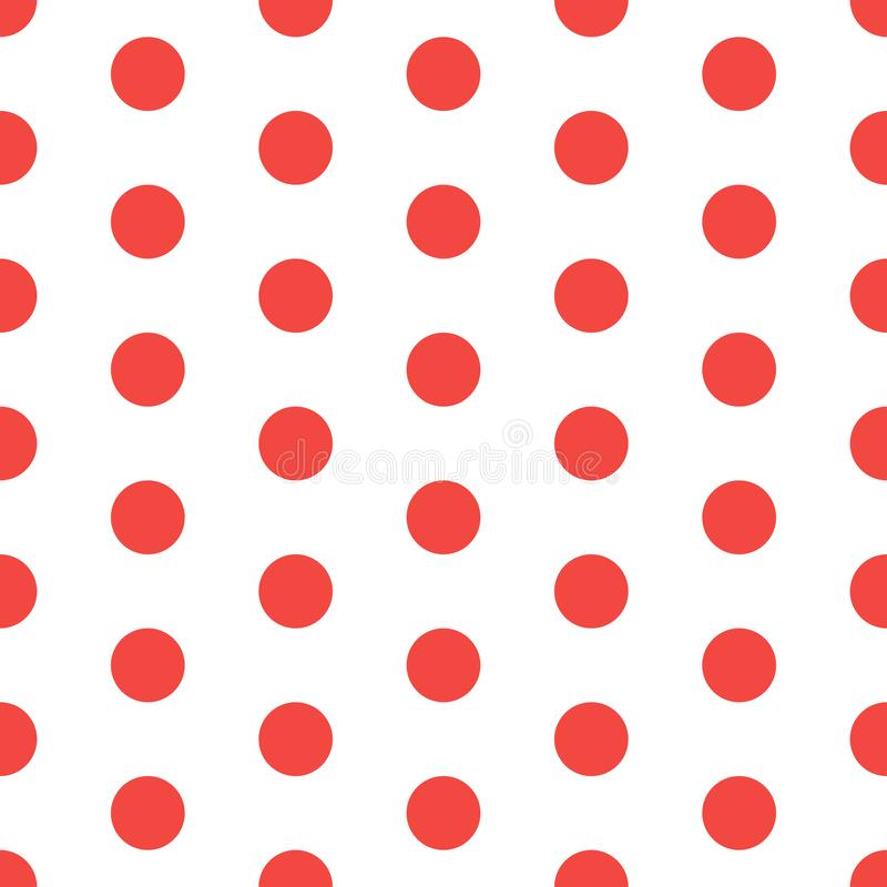Teste padrão pontilhado vermelho sem emenda Fundo do ponto de polca Textura abstrata com pontos Projeto gráfico minimalistic simp ilustração royalty free