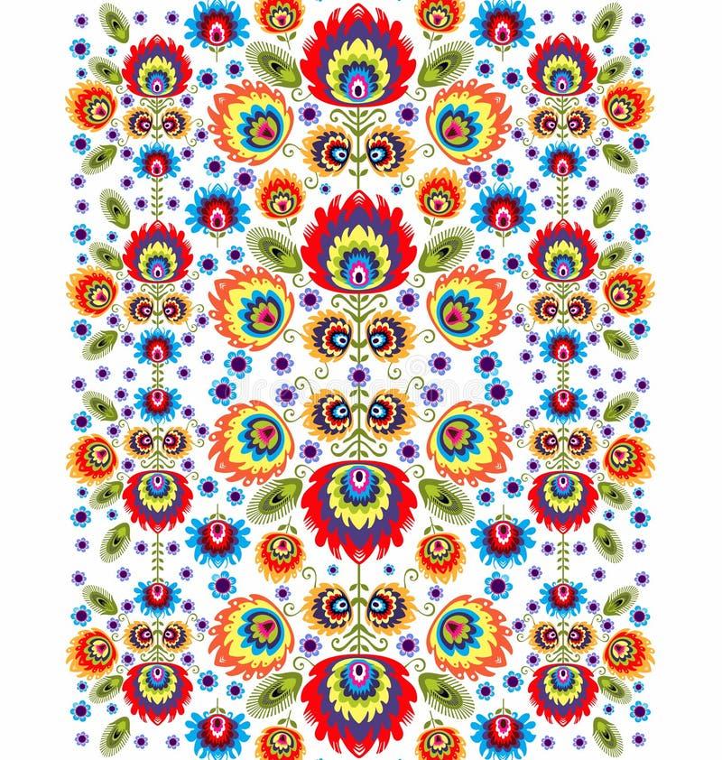 Teste padrão popular com flores três ilustração royalty free