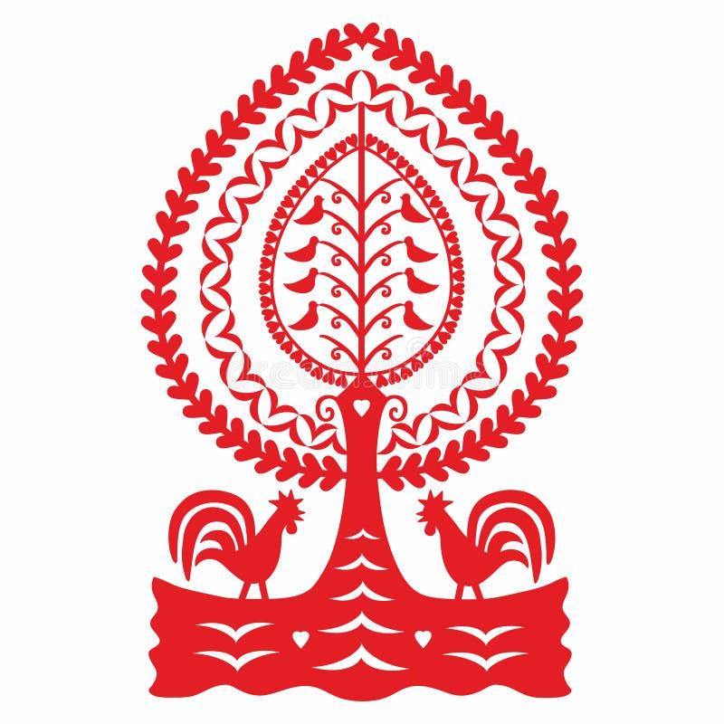 Teste padrão popular polonês ilustração royalty free