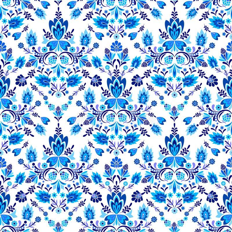Teste padrão popular sem emenda com flores ilustração do vetor