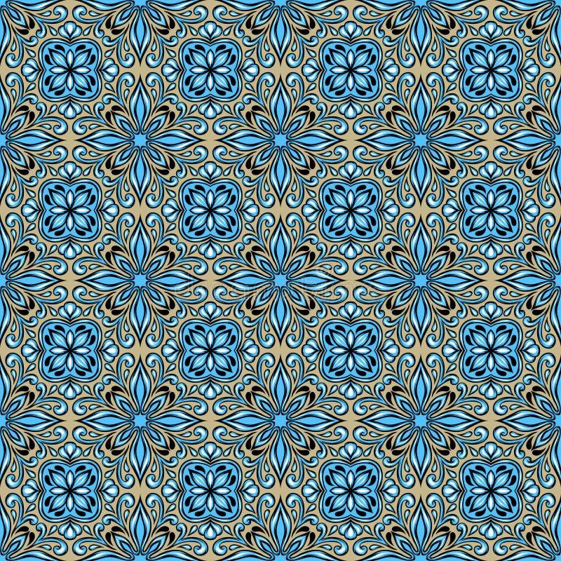 Teste padrão português do azulejo do azulejo ilustração royalty free