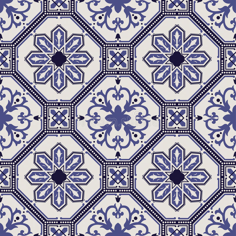 Teste padrão português do vetor da telha ilustração royalty free