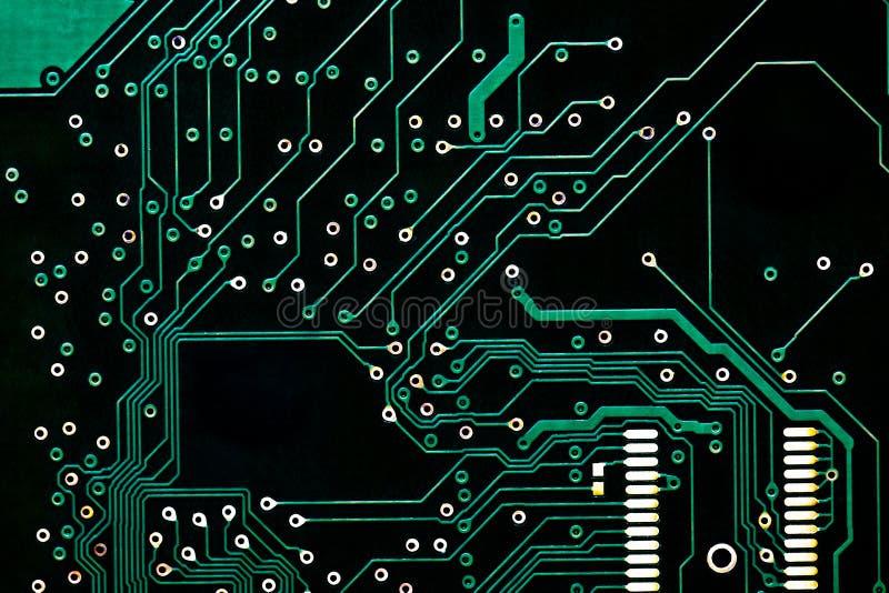 Teste padrão preto da placa de circuito do computador Textura do fundo para o projeto indústria dos equipamentos eletrônicos Repa fotografia de stock royalty free