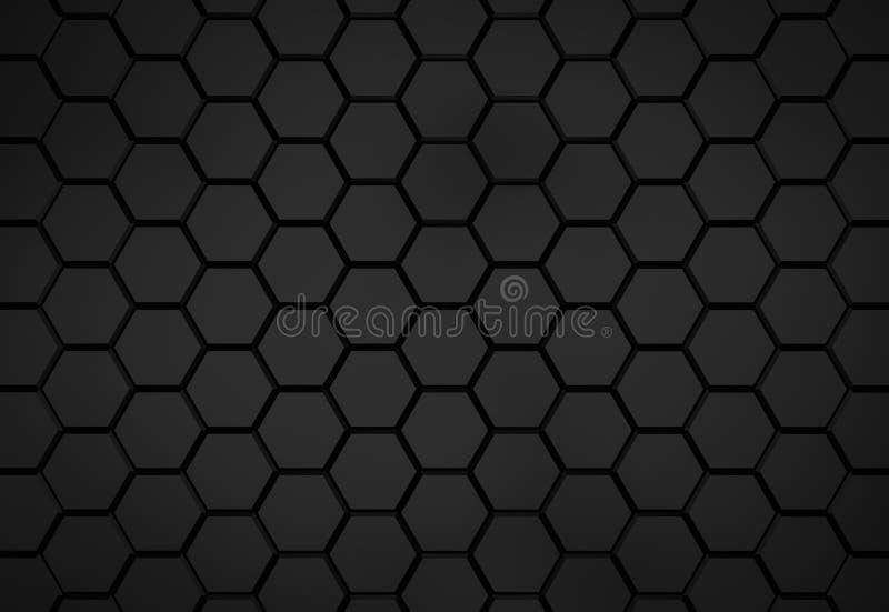 Teste padrão preto do hexágono - conceito do favo de mel ilustração royalty free