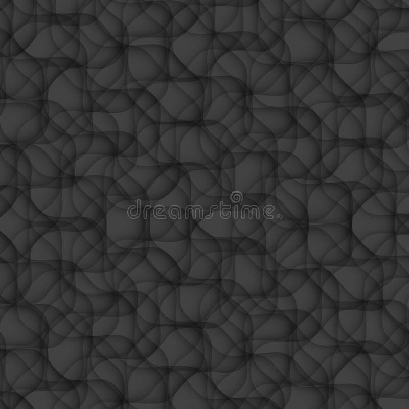 Teste padrão preto do sumário da textura sem emenda ge moderno da flor floral ilustração royalty free