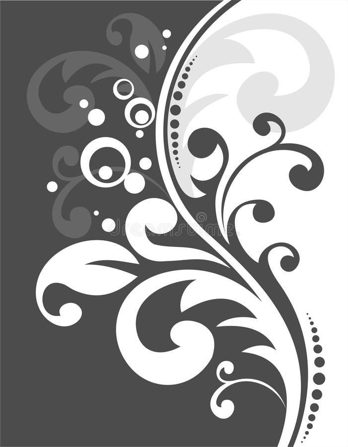 Teste padrão preto e branco ilustração royalty free