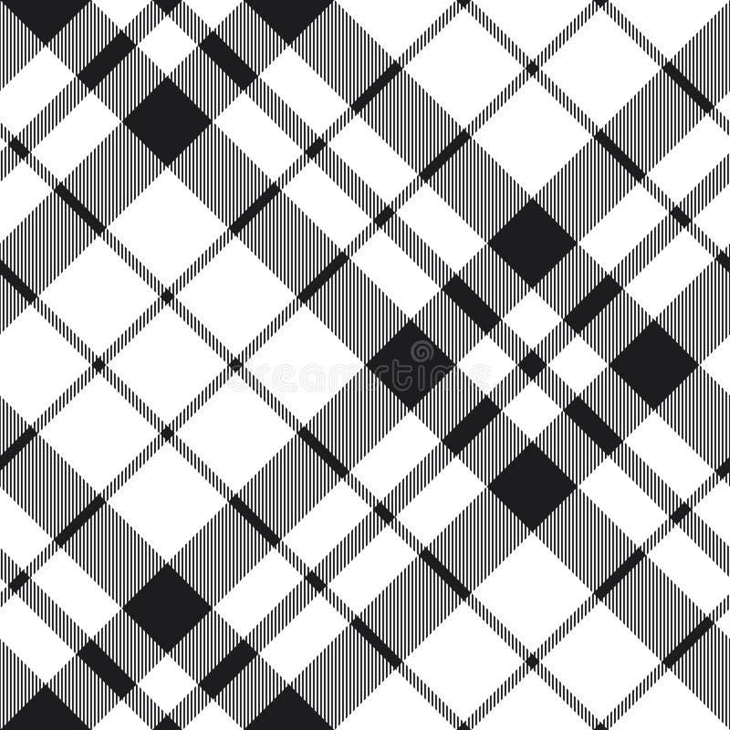 Teste padrão preto e branco da diagonal da manta da tartã Hibernian do fc ilustração royalty free