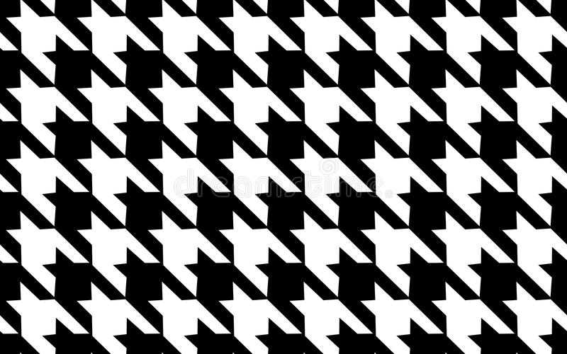 Teste padrão preto e branco da gaiola Repetição da textura do teste padrão sem emenda Fundo abstrato da forma Gaiola francesa Tes ilustração stock