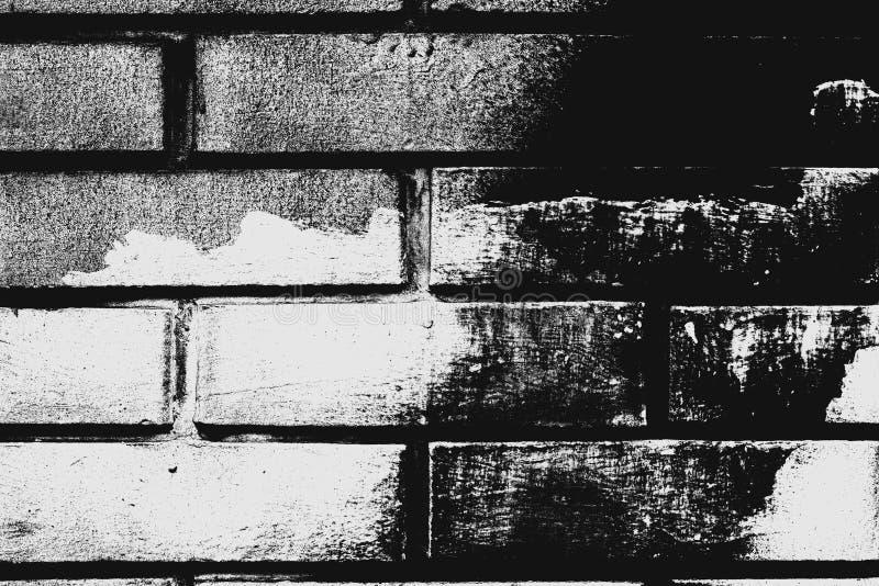Teste padrão preto e branco da parede de tijolo como o fundo fotografia de stock royalty free