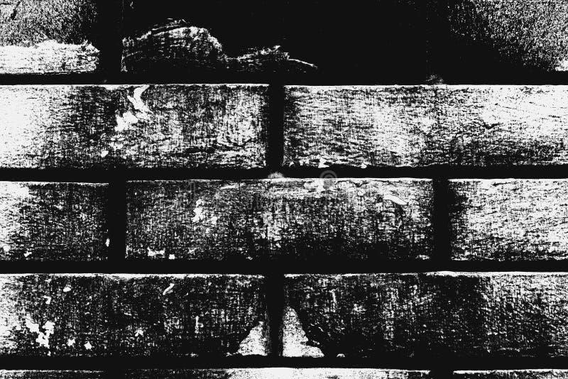 Teste padrão preto e branco da parede de tijolo como o fundo foto de stock