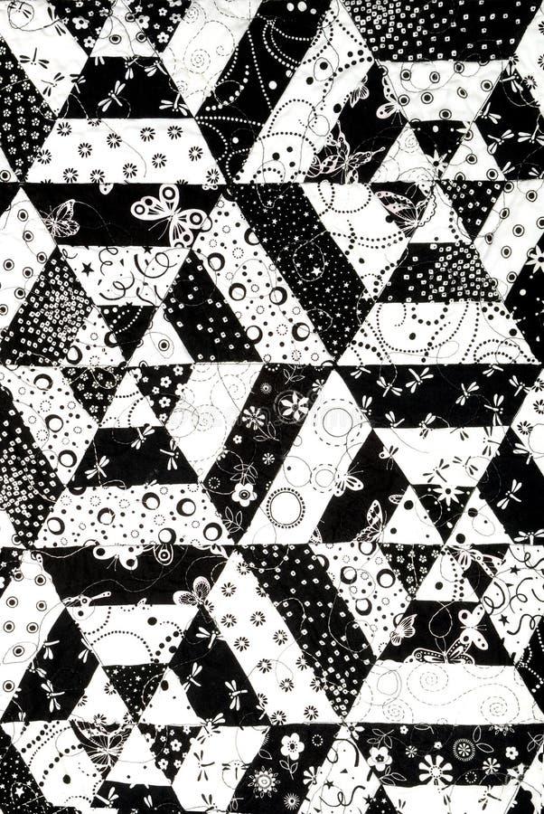 Teste padrão preto e branco do quilt foto de stock