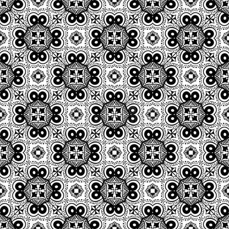 Teste padrão preto e branco do sumário 8, papel de parede do fundo, vetor editável, ilustração ilustração royalty free