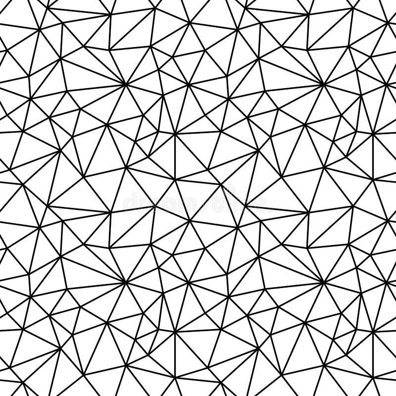 Teste padrão preto e branco geométrico do fundo do polígono da forma do moderno ilustração do vetor