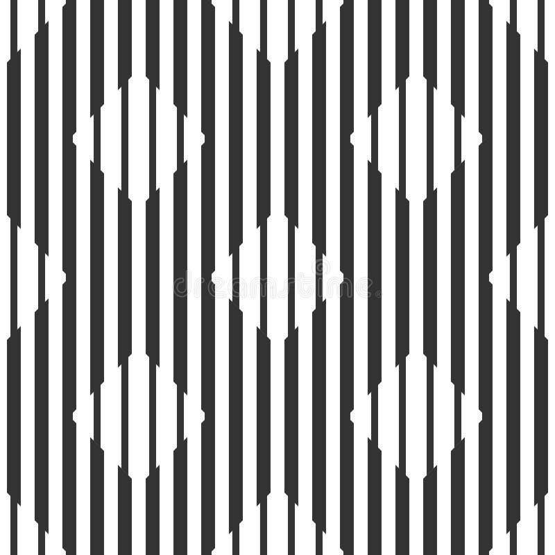 Teste padrão preto e branco geométrico sem emenda abstrato, rombos ilustração stock