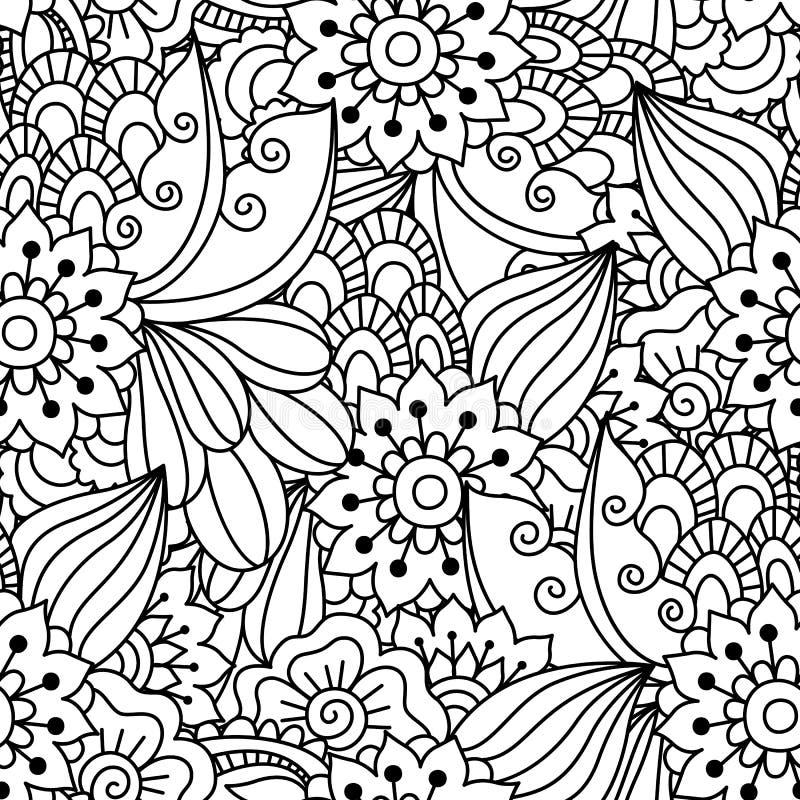 Teste padrão preto e branco sem emenda ilustração royalty free