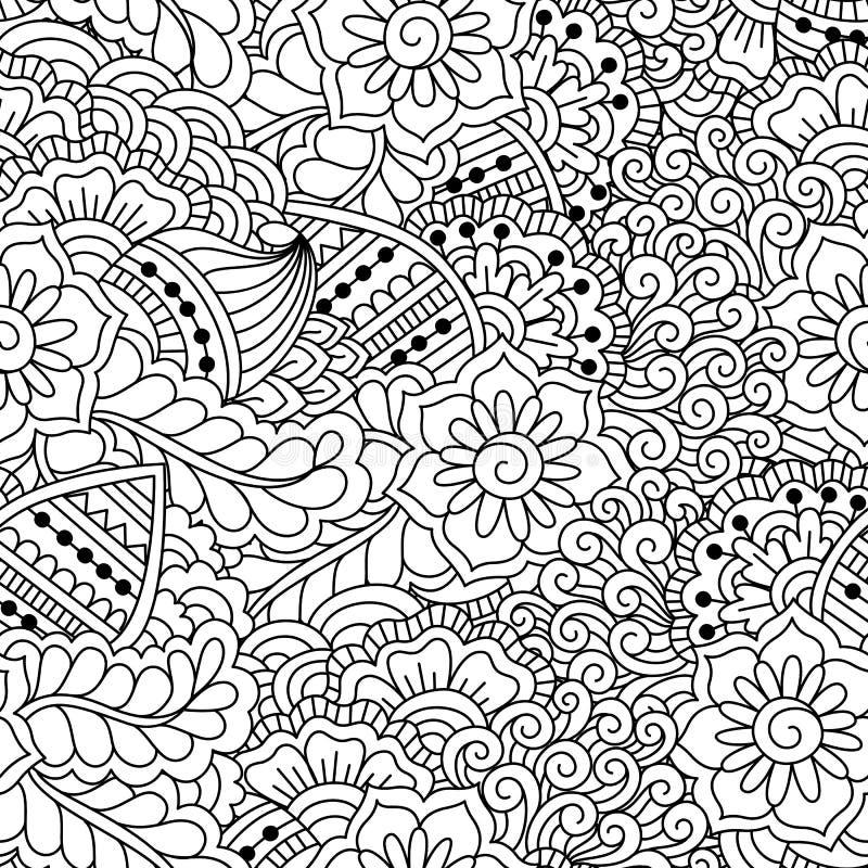 Teste padrão preto e branco sem emenda ilustração stock