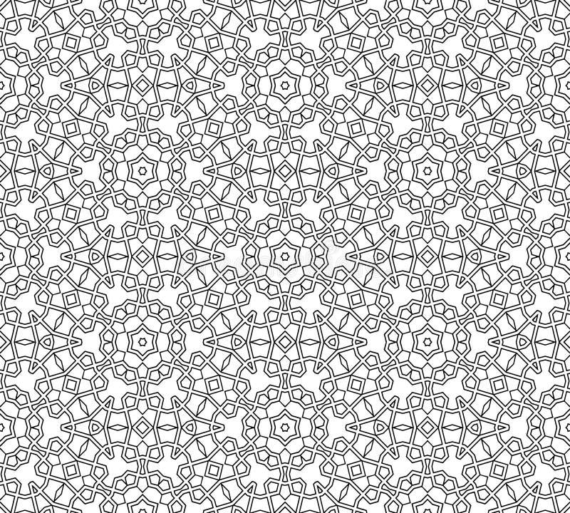 Teste padrão preto e branco sem emenda abstrato imagens de stock royalty free