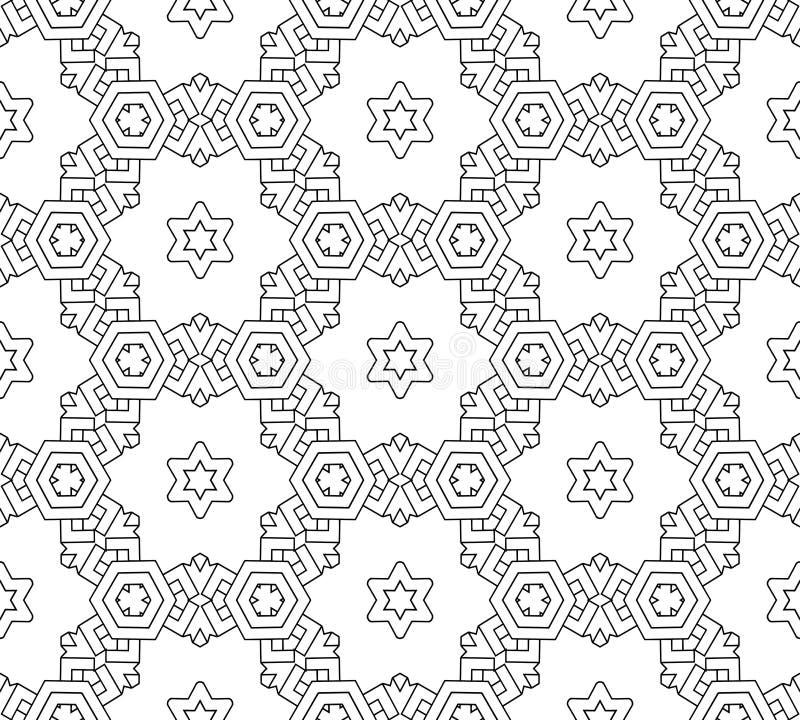 Teste padrão preto e branco sem emenda abstrato foto de stock