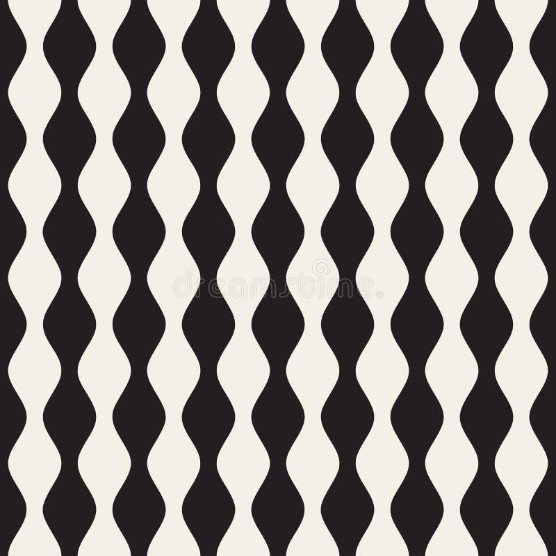 Teste padrão preto e branco sem emenda das listras verticais do vetor ilustração royalty free