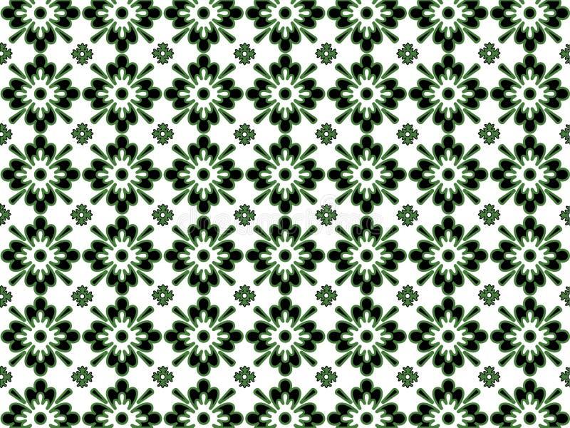 Teste padrão preto e verde ilustração royalty free