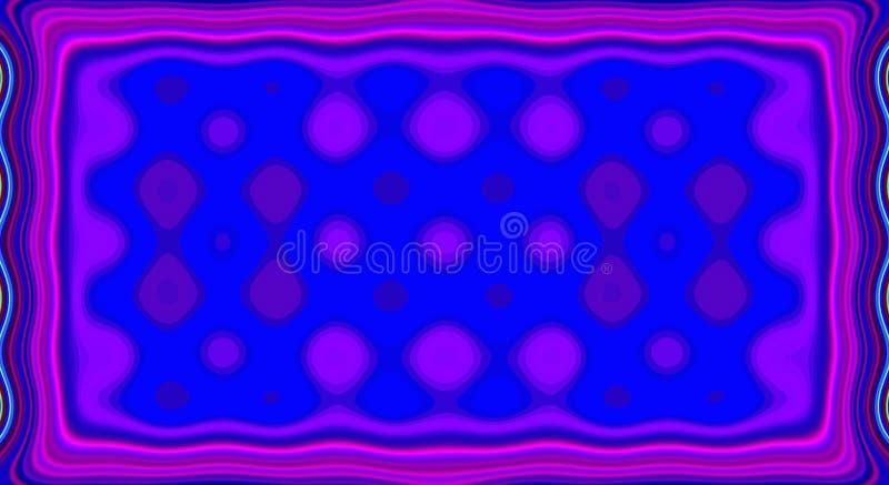 Teste padrão psicadélico do sumário da simetria e fundo hipnótico, arte artística ilustração do vetor