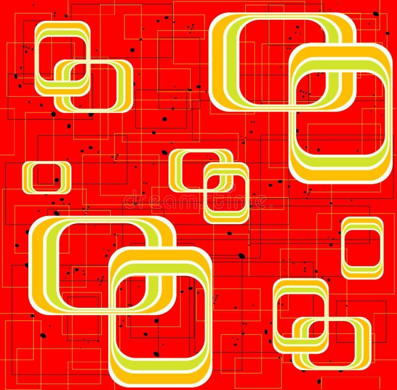 teste padrão quadrado ilustração royalty free
