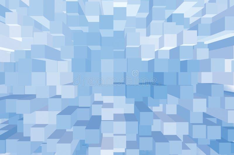 Teste padrão quadrado abstrato claro, close up horizontal do grande fundo azul brilhante do estilo de Opart foto de stock royalty free
