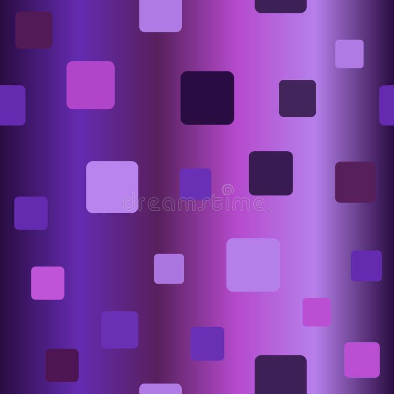 Teste padrão quadrado arredondado de incandescência Vetor sem emenda ilustração royalty free