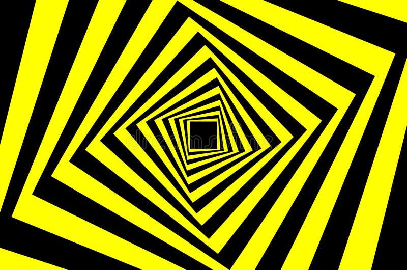Teste padrão quadrado da ilusão ótica ilustração royalty free