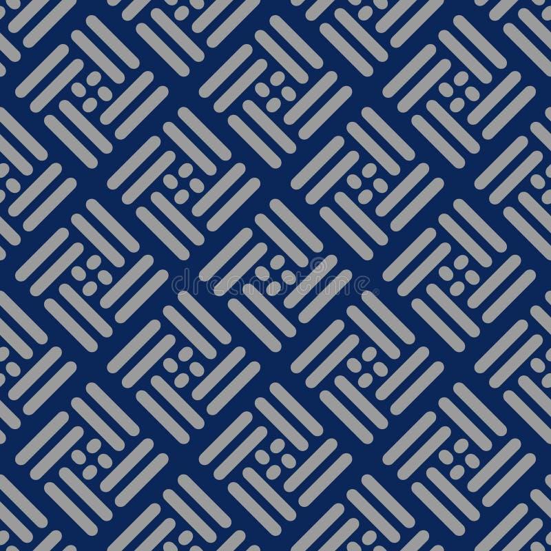 Teste padrão quadrado de tecelagem japonês ilustração do vetor