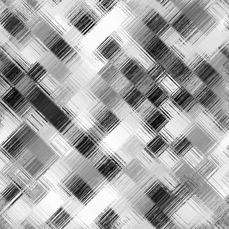 Teste padrão quadrado preto e branco ilustração stock
