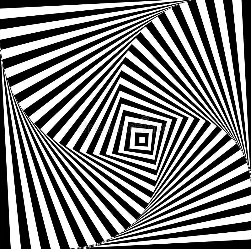 Teste padrão quadrado torcido ilustração do vetor