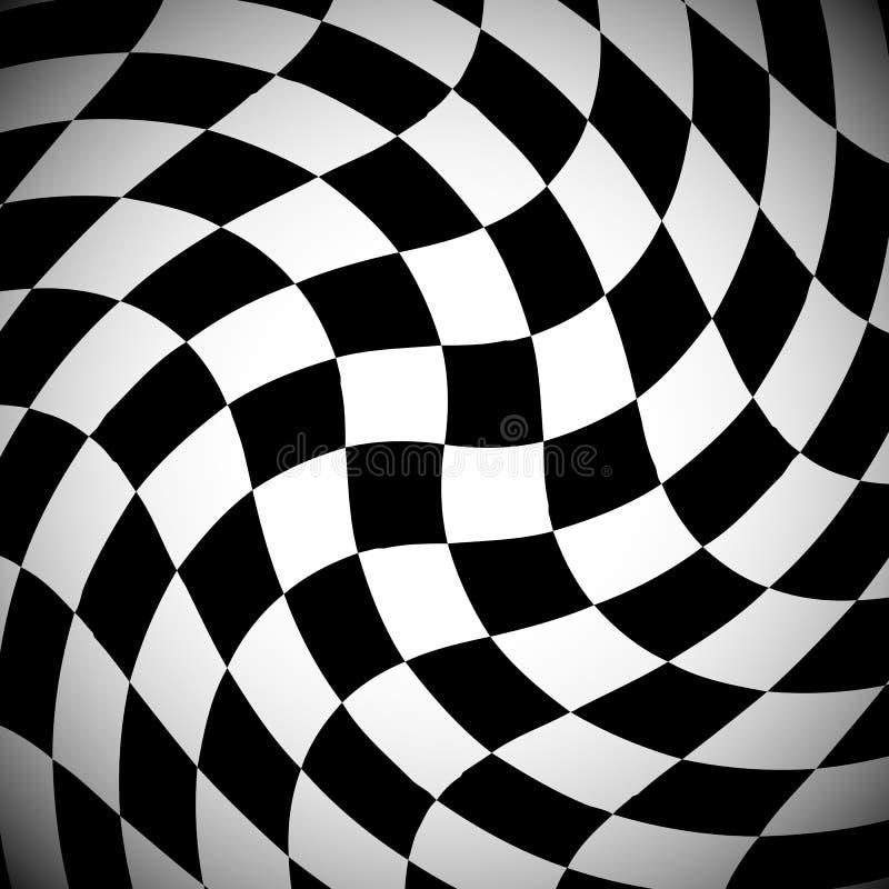 Teste padrão quadriculado protegido com espiralmente efeito da distorção ilustração royalty free